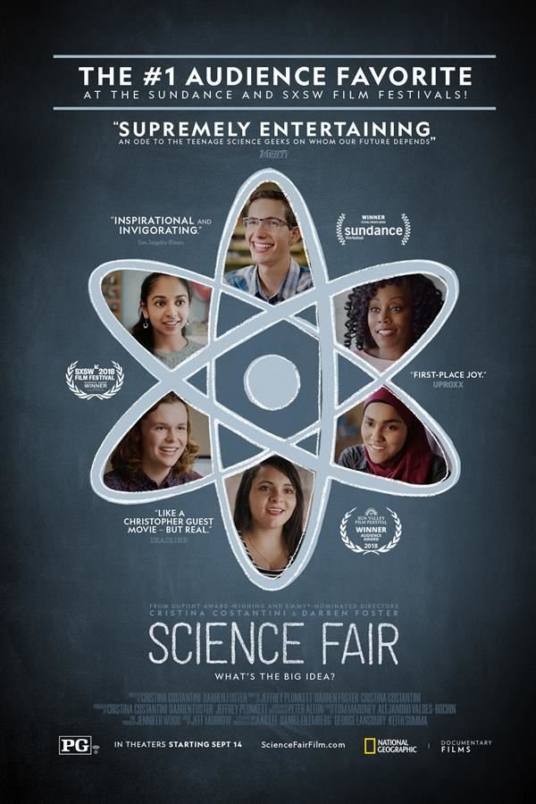 "December 19th Screening of the Motion Picture ""Science Fair"" approved for William R. Davie grade 8 science students"