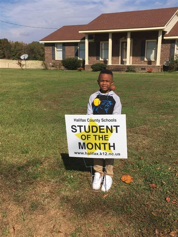 Halifax County Schools October Student of the Month