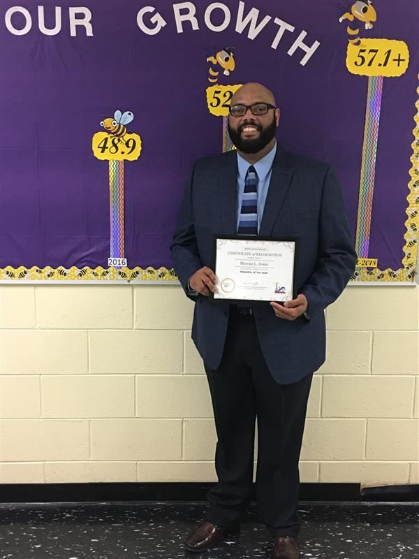 Congratulations, Mr. Marcus Jones, Halifax Schools Principal of the Year
